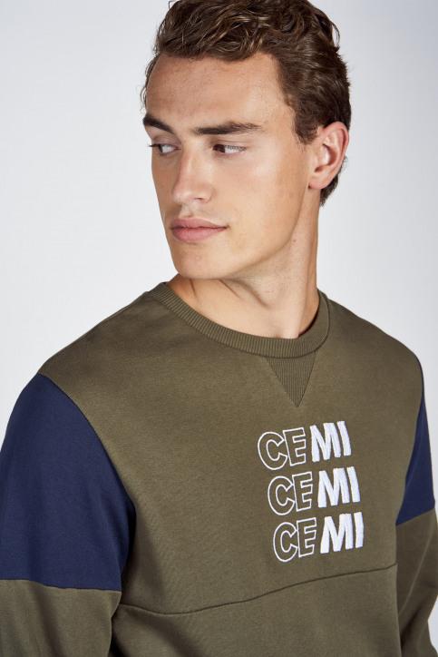 CEMI by Céline Dept & Michiel Callebaut Sweaters met ronde hals groen EMI202MT 006_OLIVE NIGHT img4