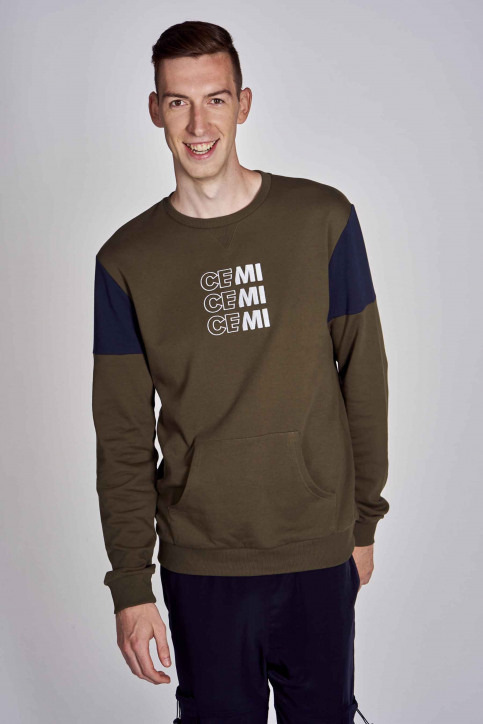 CEMI by Céline Dept & Michiel Callebaut Sweaters met ronde hals groen EMI202MT 006_OLIVE NIGHT img5