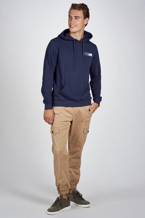 CEMI Sweaters met kap blauw EMI202MT 008_NAVY img2