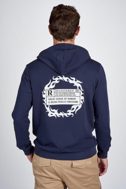 CEMI Sweaters met kap blauw EMI202MT 008_NAVY img3