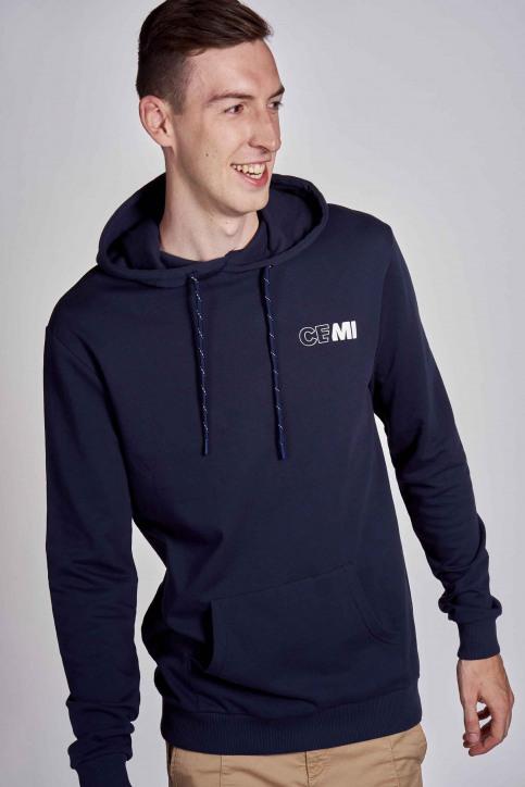 CEMI Sweaters met kap blauw EMI202MT 008_NAVY img5