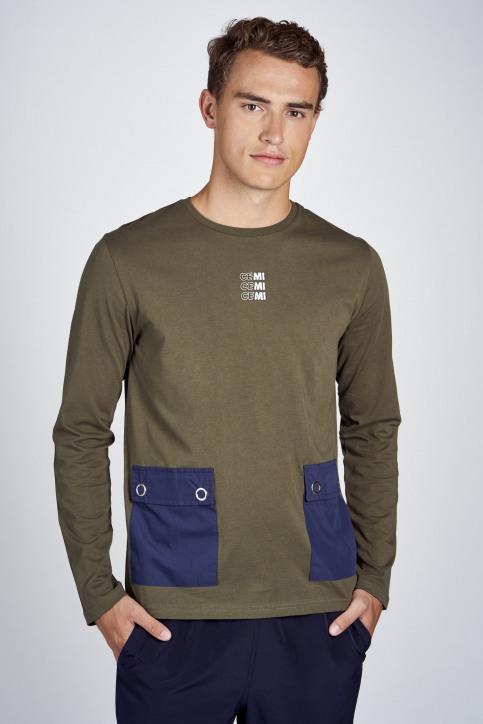 CEMI T-shirts (lange mouwen) groen EMI202MT 011_OLIVE NIGHT img1