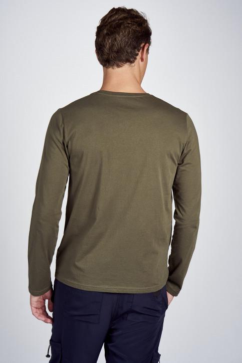 CEMI T-shirts (lange mouwen) groen EMI202MT 011_OLIVE NIGHT img3