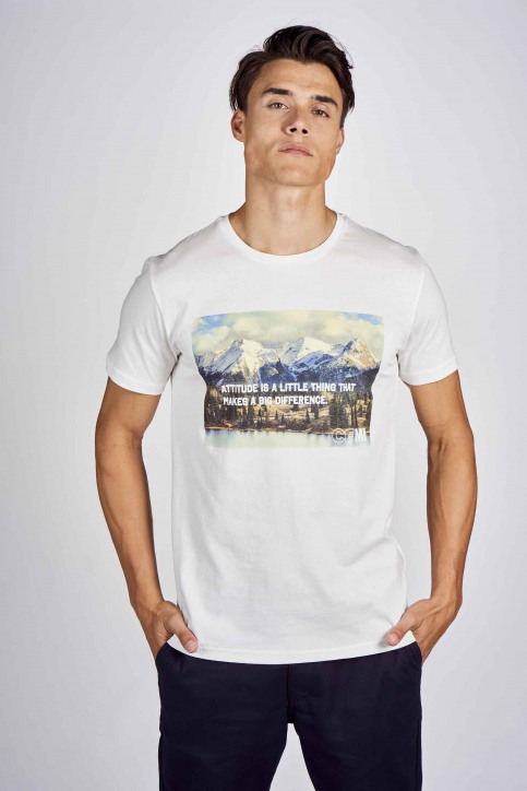 CEMI by Céline Dept & Michiel Callebaut T-shirts (korte mouwen) wit EMI202MT 012_WHITE img1