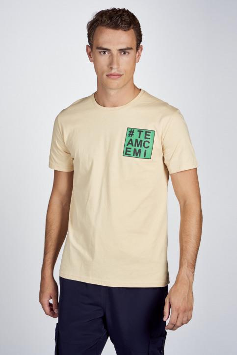 CEMI T-shirts (korte mouwen) blauw EMI202MT 013_WORKERS BLUE img1