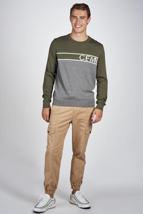CEMI Sweaters met ronde hals groen EMI202MT 014_OLIVE NIGHT img2