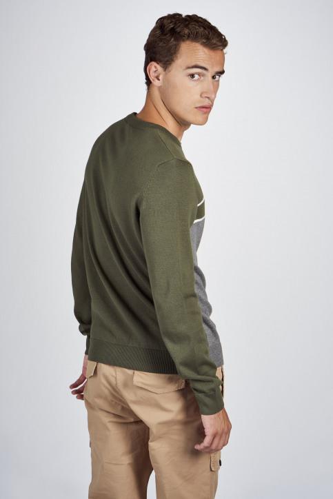 CEMI Sweaters met ronde hals groen EMI202MT 014_OLIVE NIGHT img3