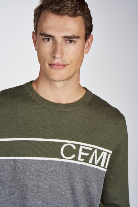CEMI Sweaters met ronde hals groen EMI202MT 014_OLIVE NIGHT img4