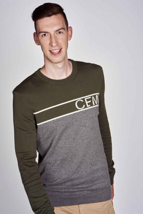 CEMI Sweaters met ronde hals groen EMI202MT 014_OLIVE NIGHT img5