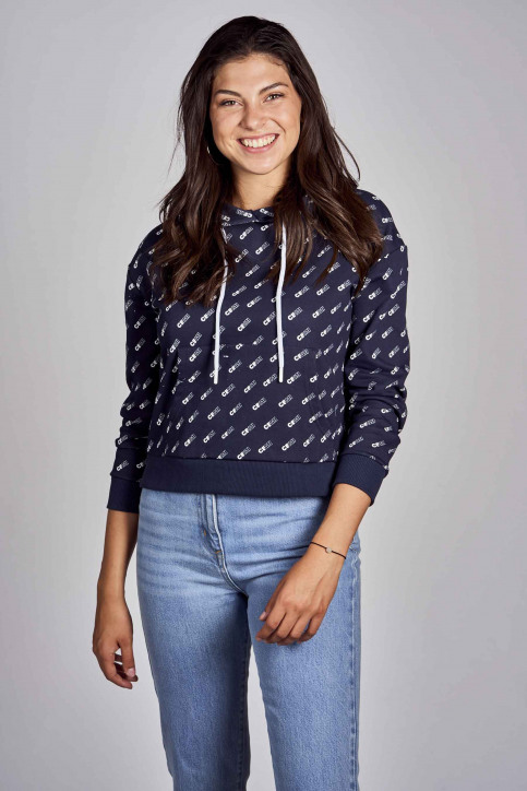 CEMI Sweaters met kap blauw EMI202WT 008_NAVY img1