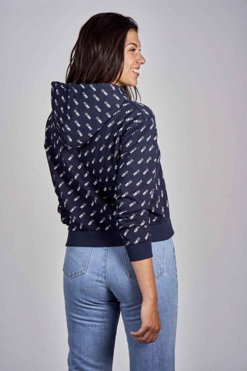 CEMI Sweaters met kap blauw EMI202WT 008_NAVY img3