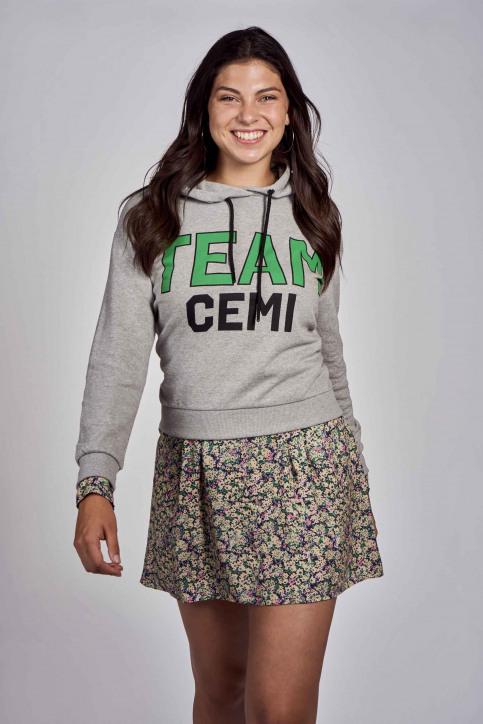 CEMI by Céline & Michiel Sweaters met kap grijs EMI202WT 009_HEATHER GREY img1