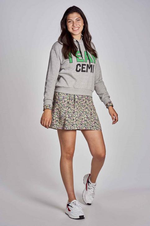 CEMI by Céline & Michiel Sweaters met kap grijs EMI202WT 009_HEATHER GREY img2