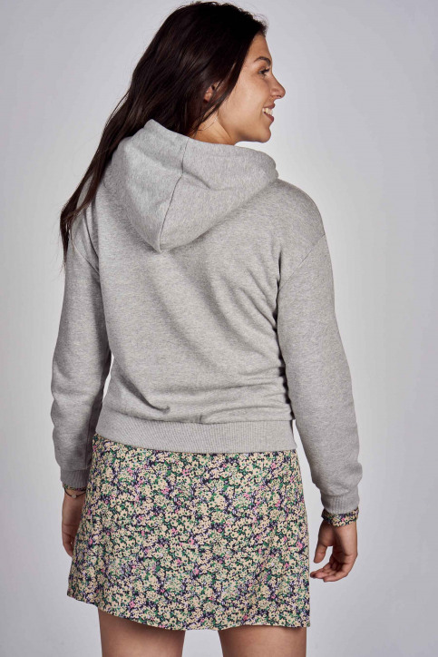 CEMI Sweaters met kap grijs EMI202WT 009_HEATHER GREY img3