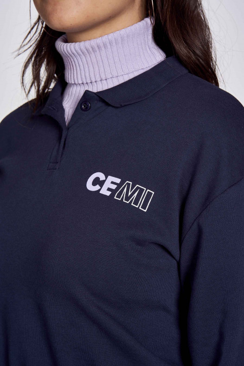 CEMI Sweaters met ronde hals blauw EMI202WT 010_WORKERS BLUE img3