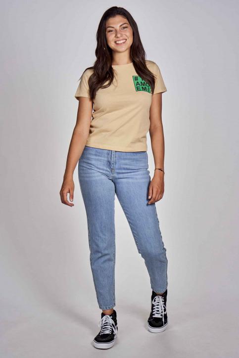 CEMI T-shirts (korte mouwen) beige EMI202WT 012_BEIGE img2