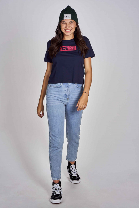 CEMI T-shirts (korte mouwen) blauw EMI202WT 015_NAVY img2