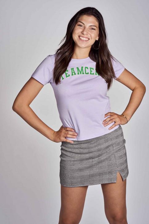 CEMI T-shirts (korte mouwen) paars EMI202WT 016_PASTEL LILAC img1