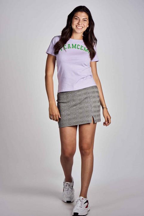 CEMI T-shirts (korte mouwen) paars EMI202WT 016_PASTEL LILAC img2