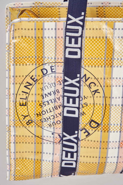 DEUX. by Eline De Munck Handtassen geel ERYN_SAFRAN img4
