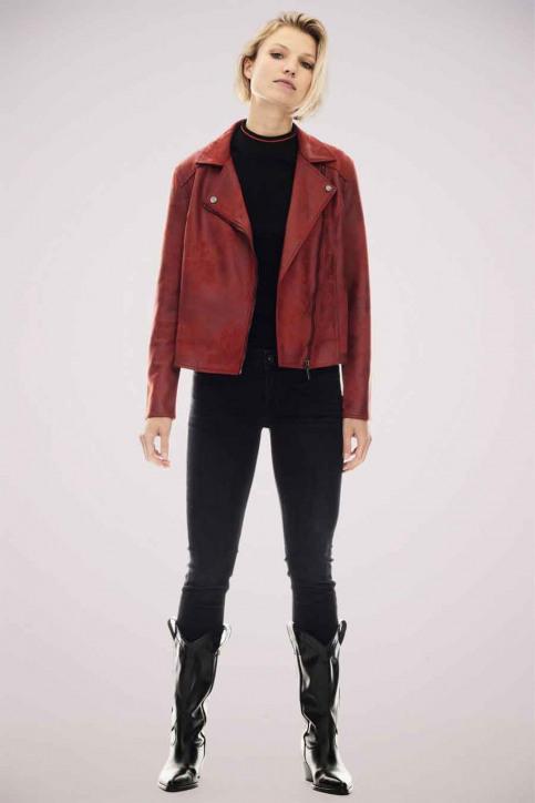 GARCIA Vestes en cuir rouge GS000890_2620 FIRED BRIC img1