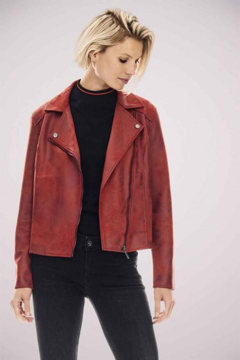 GARCIA Vestes en cuir rouge GS000890_2620 FIRED BRIC img2