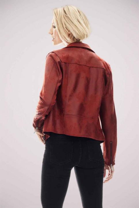 GARCIA Vestes en cuir rouge GS000890_2620 FIRED BRIC img3