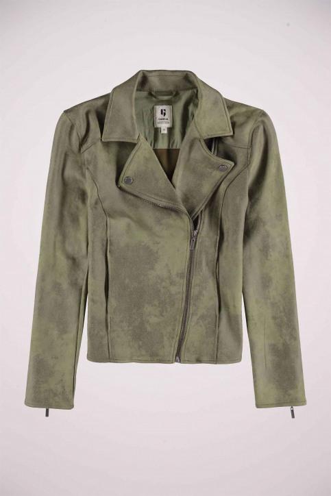GARCIA Vestes en cuir vert GS000890_3814 FERN GREEN img1