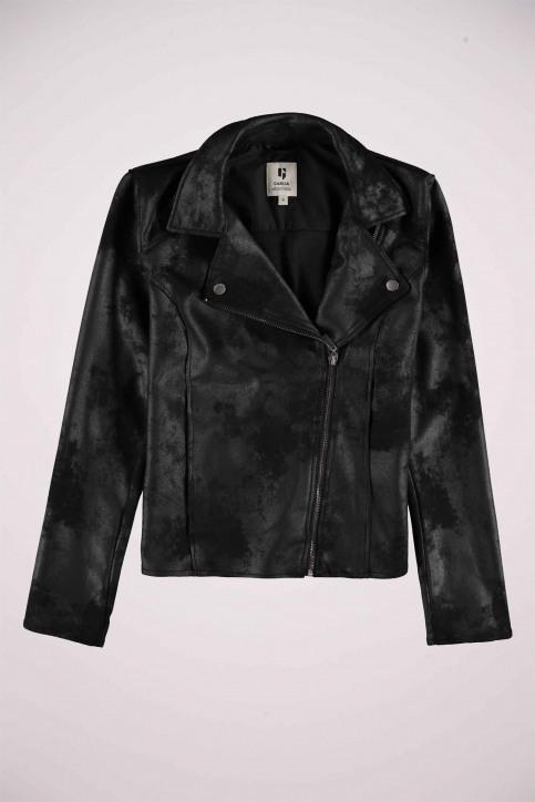 GARCIA Vestes en cuir noir GS000890_60 BLACK img1