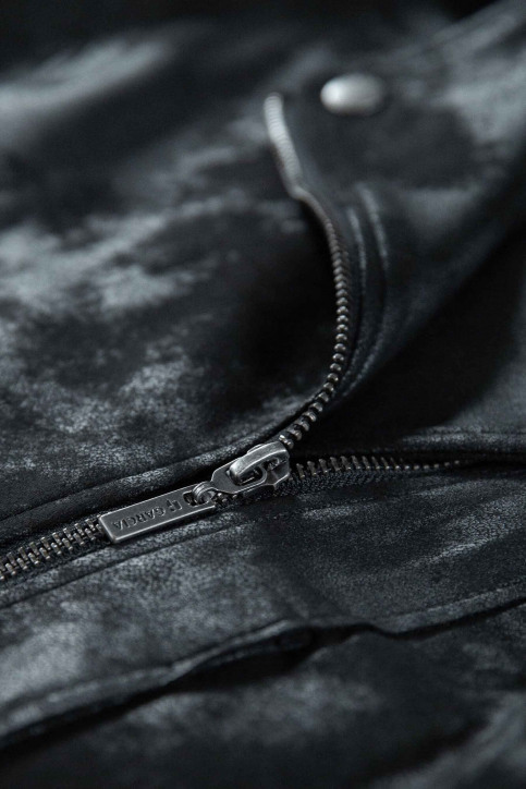 GARCIA Vestes en cuir noir GS000890_60 BLACK img2