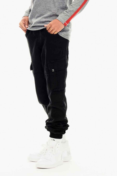 GARCIA Pantalons cargo noir GS030707_1755 OFF BLACK img1