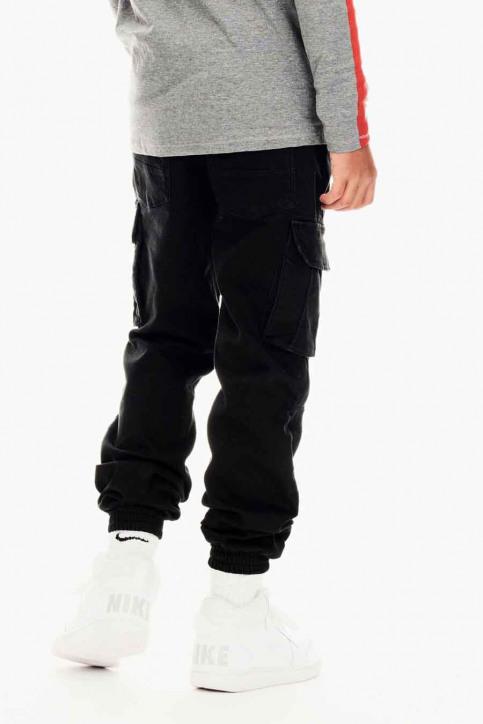 GARCIA Pantalons cargo noir GS030707_1755 OFF BLACK img3