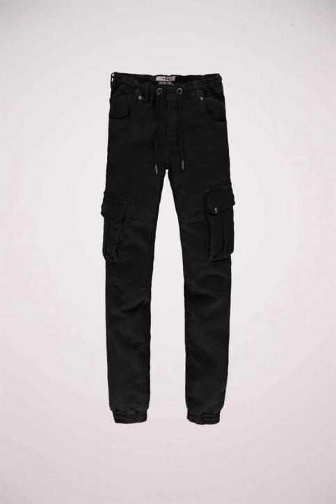 GARCIA Pantalons cargo noir GS030707_1755 OFF BLACK img5