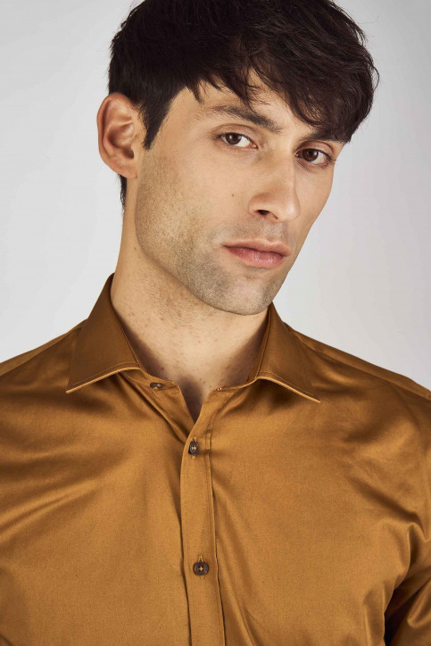Le Fabuleux Marcel De Bruxelles Hemden (lange mouwen) bruin IMP192MT 002_RUBBER img4
