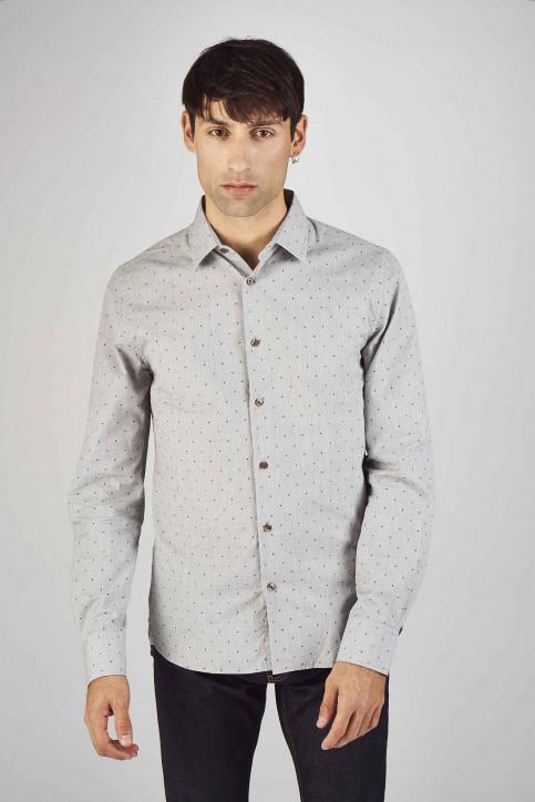 Le Fabuleux Marcel De Bruxelles Hemden (lange mouwen) grijs IMP192MT 013_GREY img1