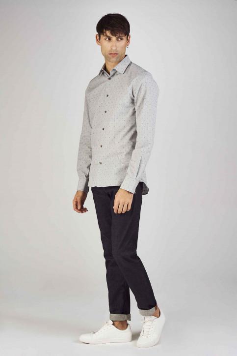 Le Fabuleux Marcel De Bruxelles Hemden (lange mouwen) grijs IMP192MT 013_GREY img2