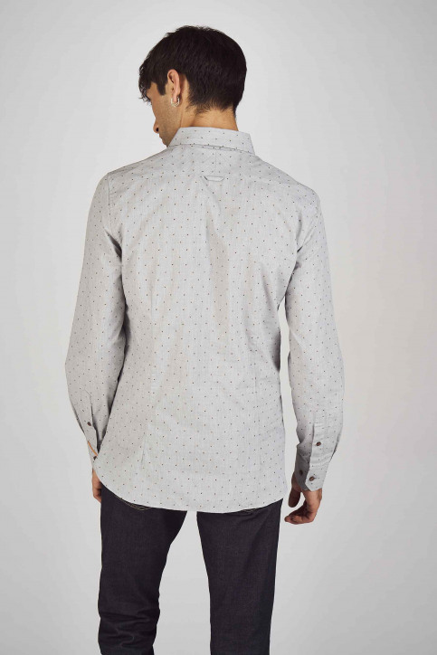 Le Fabuleux Marcel De Bruxelles Hemden (lange mouwen) grijs IMP192MT 013_GREY img3