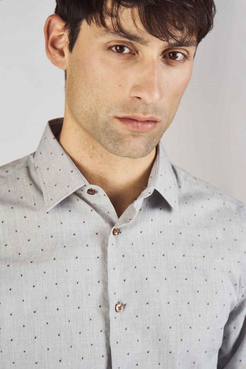 Le Fabuleux Marcel De Bruxelles Hemden (lange mouwen) grijs IMP192MT 013_GREY img4