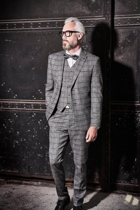 Le Fabuleux Marcel De Bruxelles Blazers gris IMP194MT 017_GREY img5