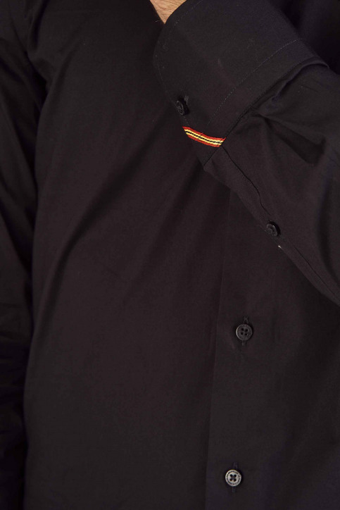 Le Fabuleux Marcel de Bruxelles Hemden (lange mouwen) zwart IMP194MT 023_BLACK img4