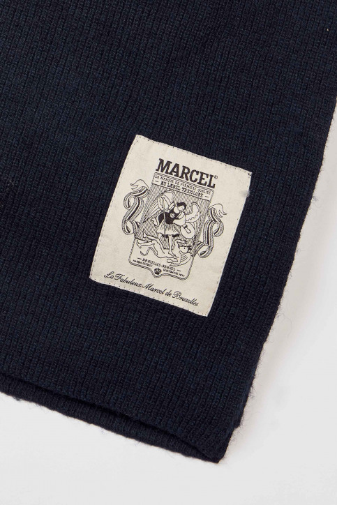 Le Fabuleux Marcel De Bruxelles Wintersjaals blauw IMP202MT 010_NAVY img2