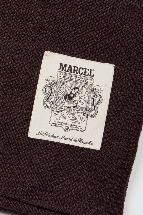 Le Fabuleux Marcel De Bruxelles Wintersjaals bruin IMP202MT 011_TOBACCO img2