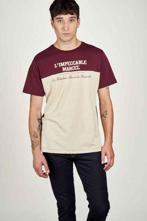 Le Fabuleux Marcel De Bruxelles T-shirts (korte mouwen) beige IMP202MT 015_SAND MAROON img1