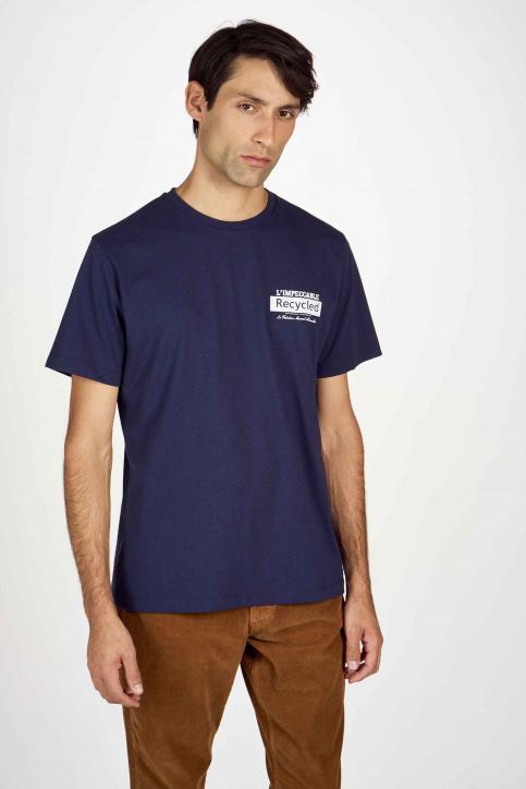 Le Fabuleux Marcel De Bruxelles T-shirts (korte mouwen) blauw IMP202MT 016_NAVY img1