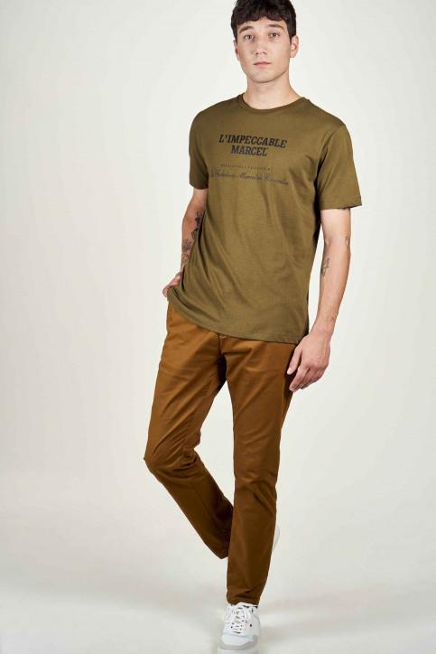 Le Fabuleux Marcel De Bruxelles T-shirts (korte mouwen) groen IMP202MT 017_OLIVE img1