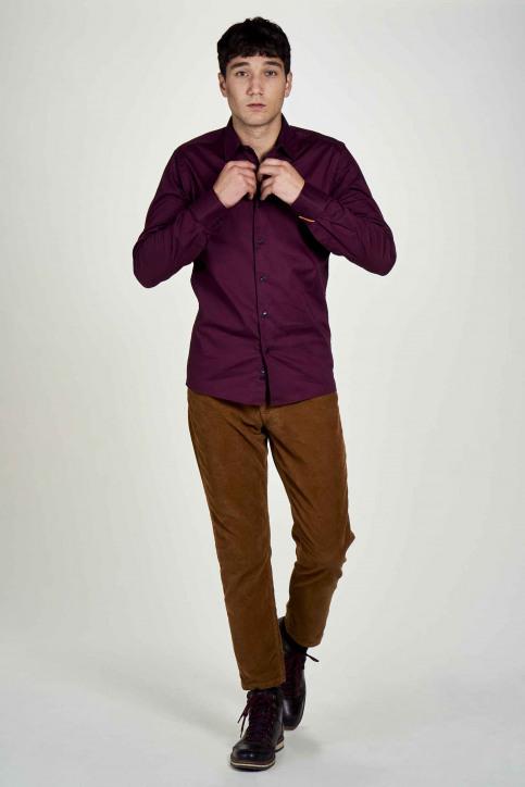 Le Fabuleux Marcel De Bruxelles Hemden (lange mouwen) bruin IMP202MT 020_MAROON img1