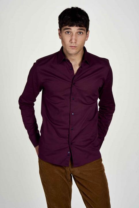Le Fabuleux Marcel De Bruxelles Hemden (lange mouwen) bruin IMP202MT 020_MAROON img2