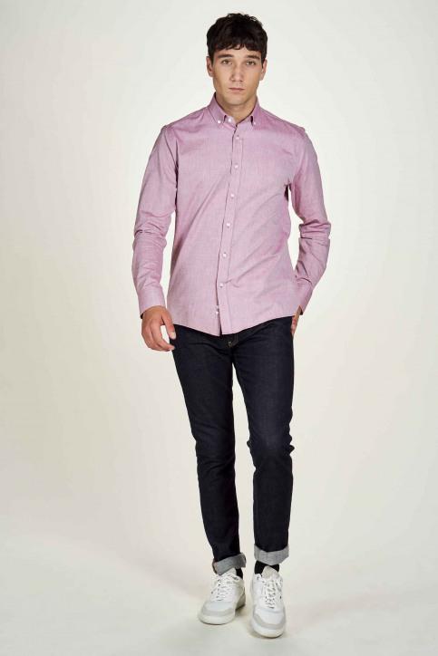 Le Fabuleux Marcel De Bruxelles Hemden (lange mouwen) roze IMP202MT 021_MAROON img2