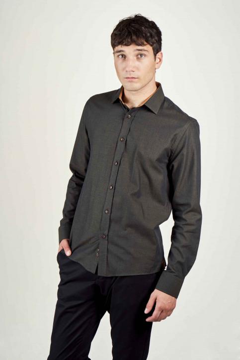 Le Fabuleux Marcel De Bruxelles Hemden (lange mouwen) bruin IMP202MT 022_BROWN img1