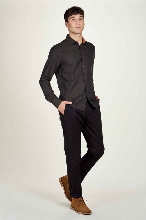 Le Fabuleux Marcel De Bruxelles Hemden (lange mouwen) bruin IMP202MT 022_BROWN img2